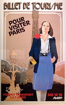 """affiche présentée à l'exposition """"Bons baisers de Paris"""". Photo: PHB/LSDP"""