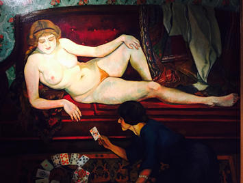 """La Tireuse de cartes"" (1912), Suzanne Valadon. Photo: Valérie Maillard"