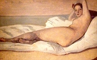 "Camille Corot. ""Marietta, l'odalisque romaine. Exposition Victor Hugo. Photo: PHB/LSDP"