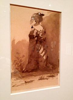 Femme nue sous un manteau. Victor Hugo. Photo: PHB/LSDP