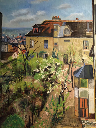 """""""Le Jardin de la maison d'Utrillo"""", 1913, André Utter. Photo: Valérie Maillard"""