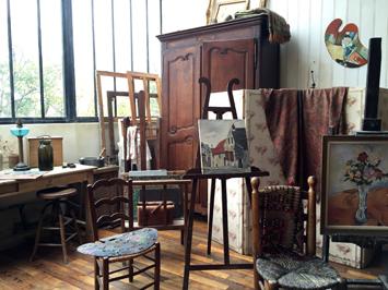 L'atelier du 12 rue Cortot. Photo: Valérie Maillard