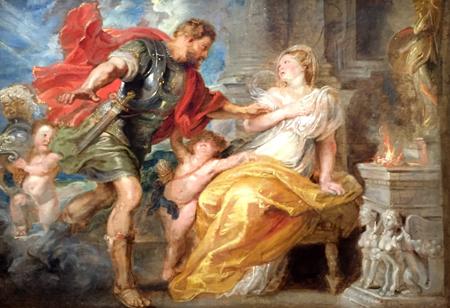 """Esquisse pour """"Mars et Rhéa Silvia"""" (vers 1616-1617), Pierre Paul Rubens. Photo: Valérie Maillard"""