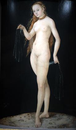 """""""Vénus"""" (1531), de Lukas Cranach. Photo: Valérie Maillard"""