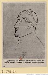 Apollinaire blessé par Picasso. Source image: BnF/Gallica