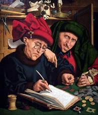 """""""Les Collecteurs d'impôts"""" (fin des années 1520), de Quentin Massys. Photo: Valérie Maillard"""