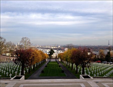 La perspective depuis le cimetière militaire américain. Photo: PHB/LSDP