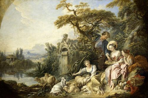 François Boucher : Le Nid ou Le Présent du berger (vers 1740) ©RMN-GP (musée du Louvre) Droits réservés