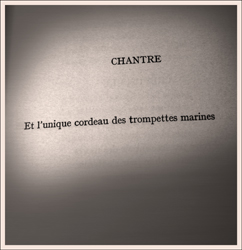 """Chantre, dans le recueil """"Alcools"""". Photo: PHB/LSDP"""