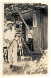 Masano Abe à l'Observatoire de la foudre. Copyright: Musée de l'université de Tôkuô