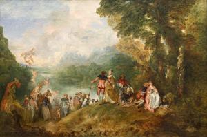 Antoine Watteau : Pèlerinage à l'ile de Cythère (1717) ©Musée du Louvre, RMN- GP/Angèle Dequier