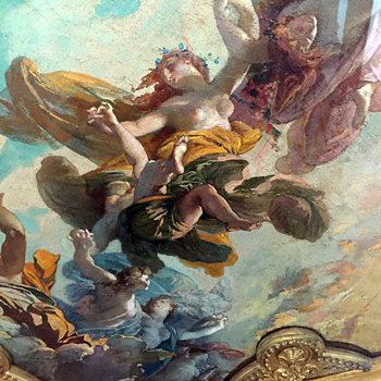 Esquisse de Jules Lenepveu pour le premier plafond de l'Opéra Garnier. Musée de l'Opéra. Photo: VM
