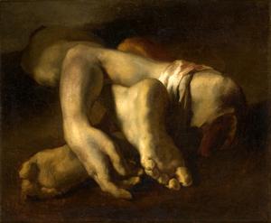 Théodore Géricault (1791-1824), Etude de pieds et de mains 1818-1819, Huile sur toile, Montpellier, Musée Fabre de Montpellier Agglomération © Musée Fabre de Montpellier Agglomération