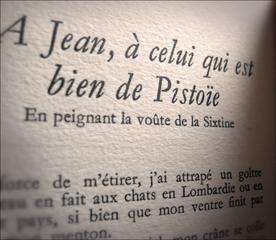 Extrait d'un poème de Michel Ange. Photo: PHB/LSDP