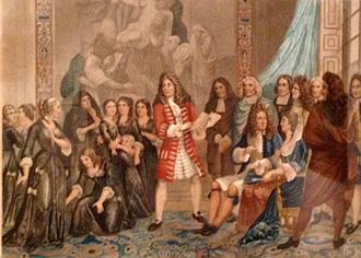 Racine faisant réciter Esther devant le roi et Mme de Maintenon, par Pierre-Charles Coqueret. Photo: Guillemette de Fos