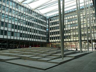 Jussieu: sous les gradins, un amphithéâtre de 500 palces pour les colloques internationaux. Photo: MF Laborde