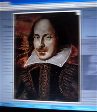 William Shakespeare sur la page Wiki. Photo: PHB/LSDP