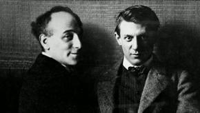 Max Jacob et Picasso. Image extraite du film