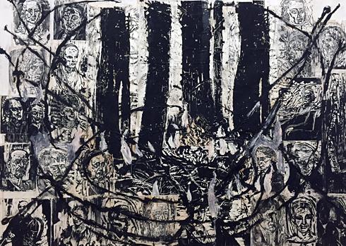 """""""La Forêt de Teutobourg"""", 1980-1981. Anselm Kiefer. Photo: Valérie Maillard"""