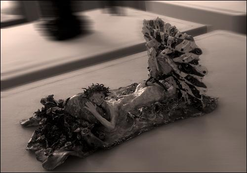 Oeuvre présentée à l'exposition Céramix. Photo: PHB/LSDP