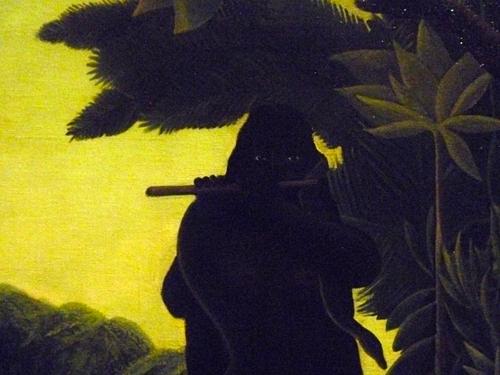 """Henri Rousseau. Détail de """"La charmeuse de serpents"""". Photo: PHB/LSDP"""