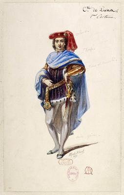 le Trouvère. Costume ancien. Source image: Gallica