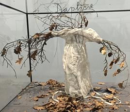 Oeuvre de Anselm Kiefer à Beaubourg. Photo: Valérie Maillard