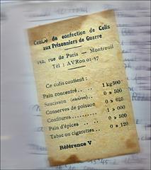 """Détail du """"colis"""" du prisonnier. Source image: Bruno Sillard"""