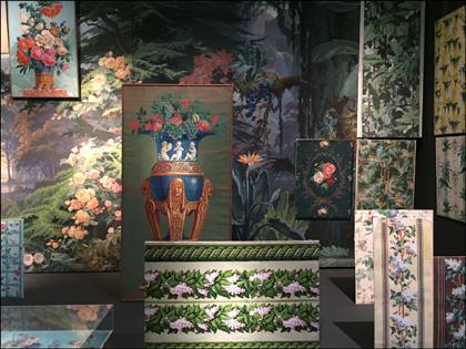 """Aspect de l'exposition """"Faire le mur"""". Photo: Valérie Maillard"""