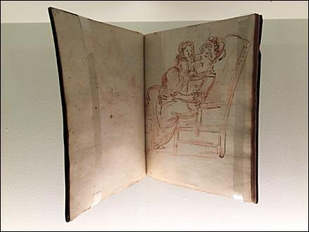 Carnet d'esquisses de Hubert Robert. Photo: Valérie Maillard