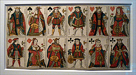 Présentées à l'exposition, les cartes ayant servi de base d'inspiration à Derain. Photo: PHB/LSDP
