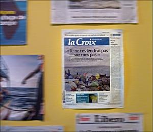 """Aspect de l'exposition """"Frontières"""". Photo: PHB/LSDP"""