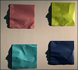 """(Ci-contre: """"Origami"""", kumi Yamashita. Œuvre réalisée pour l'exposition Pierre Frey, photo: VM)"""