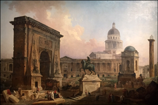 """Les Monuments de Paris"", 1788. Hubert Robert. Photo: VM"