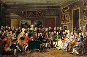 Lecture de la Tragédie de L'orphelin de la Chine de Voltaire dans le salon de madame Geoffrin
