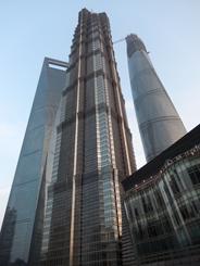 Les 3 tours WFC, Jin Mao et Shanghai Tower/©Lottie Brickert