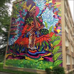 Oeuvre murale de Ramon Martins à Rouen. Photo: MPS