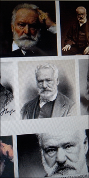 Victor Hugo sur le mur de Google images. Photo: PHB/LSDP