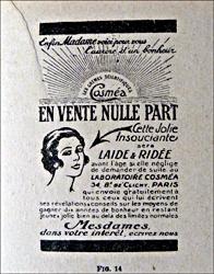 Publicité des années trente. Photo: PHB/LSDP
