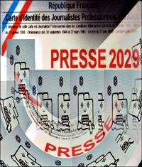 Carte de presse 2029. Illustration: PHB/LSDP