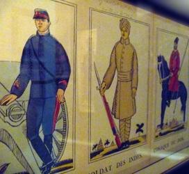 """Représentation des """"Alliés"""". Gravure sur bois signée par Raoul Dufy. Photo: PHB/LSDP"""