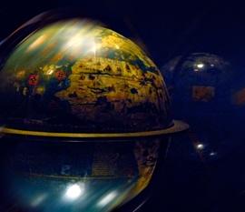 Exposition sur les globes à la BnF. Photo: PHB/LSDP