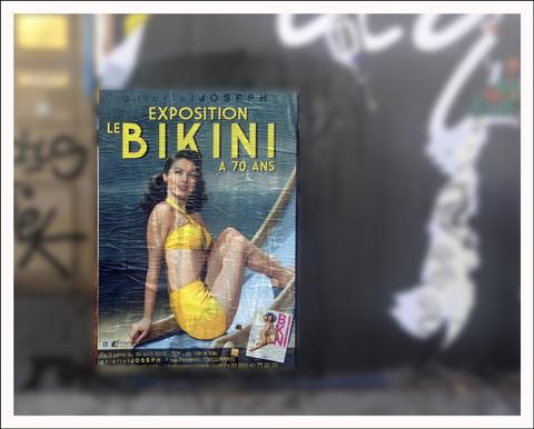 Publicité pour l'expo sur le bikini. Photo: PHB/LSDP