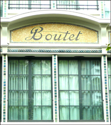 Façade de l'hôtel Boutet Bastille. Photo: MF Laborde