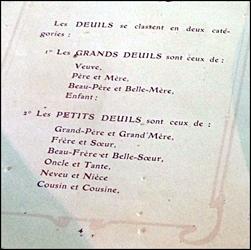 Les délais du deuil. Musée de Jouy. Photo: PHB/LSDP