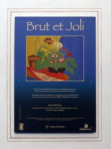 """Affiche de l'exposition """"Brut et Joli"""". Photo: PHB/LSDP"""