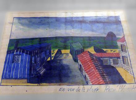 """""""Vue de la Plage"""". René Héroult. Exposition """"Brut et Joli"""". Photo: PHB/LSDP"""