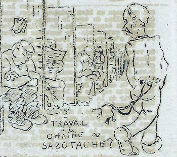 """Le dernier salon où l'on cause sera … les toilettes. Dessin de Ferdinand Dupuis paru dans """"La Voix du Veau"""""""