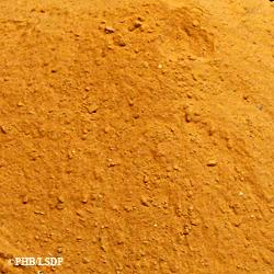 Echantillon de sable présenté au Pavillon de l'arsenal. Photo: PHB/LSDP