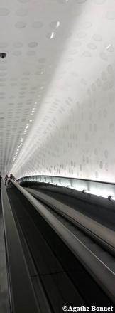 L'escalator de la Philharmonique de Hambourg